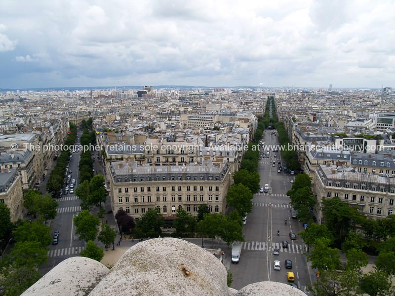 "Arc de Triomphe, a view from the top of, Paris, France. SEE ALSO:   <a href=""http://www.blurb.com/b/893039-paris-international-city"">http://www.blurb.com/b/893039-paris-international-city</a>"