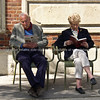 "Couple reading outdoors. Paris, International City.<br /> Model released; no, for editorial & personal use. SEE ALSO:   <a href=""http://www.blurb.com/b/893039-paris-international-city"">http://www.blurb.com/b/893039-paris-international-city</a>"