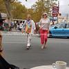 People crossing street Saint Chinian, France