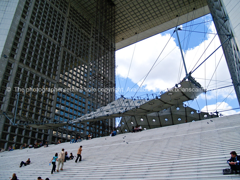 "Steps of Le Grande Arche, Paris, France. SEE ALSO:   <a href=""http://www.blurb.com/b/893039-paris-international-city"">http://www.blurb.com/b/893039-paris-international-city</a>"