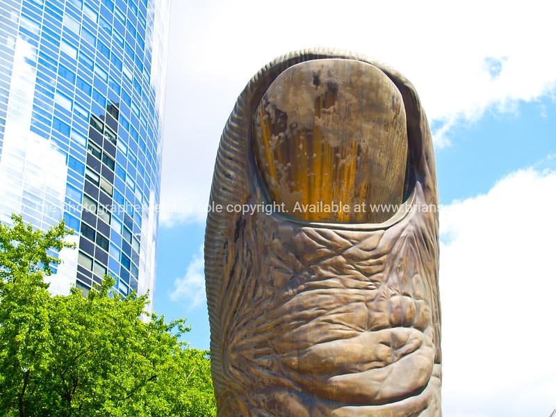 """Thumb, large bronze sculpture, La Defense, Paris, France. SEE ALSO:   <a href=""""http://www.blurb.com/b/893039-paris-international-city"""">http://www.blurb.com/b/893039-paris-international-city</a>"""