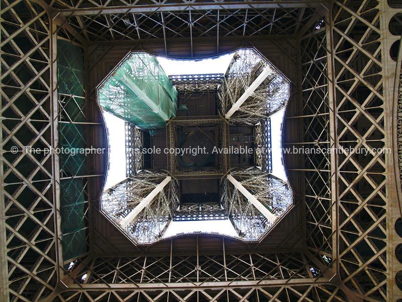 "Looking up from below, Eiffel Tower, Paris, France. SEE ALSO:   <a href=""http://www.blurb.com/b/893039-paris-international-city"">http://www.blurb.com/b/893039-paris-international-city</a>"
