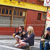 "Two two's, sitting on street corner watching life go by, Montmatre, Paris, International City.<br /> Model released; no, for editorial & personal use. SEE ALSO:   <a href=""http://www.blurb.com/b/893039-paris-international-city"">http://www.blurb.com/b/893039-paris-international-city</a>"