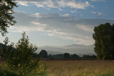 Beautiful French countryside and mountains/