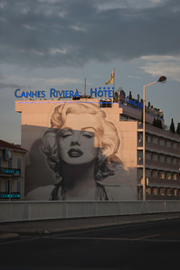 Marilyn Monroe seen in the French Cannes Riviera Hotel.