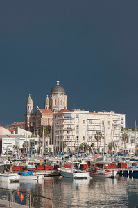 French Riviera harbour after a storm.