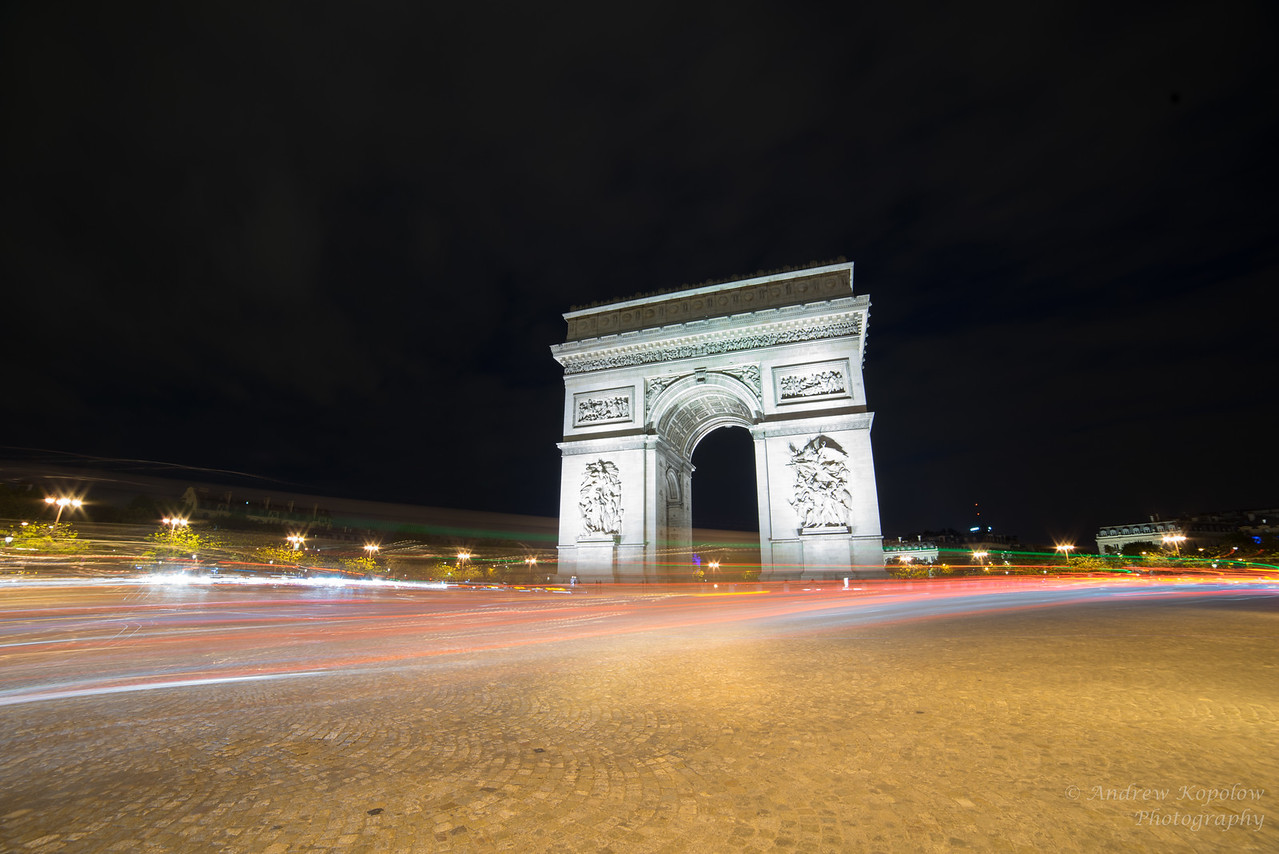 Color Flares at The Arc De Triomphe