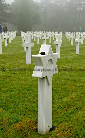 American Cemetary, Remembrance, Jewish Star, 61st Anniversary, Normandy,11