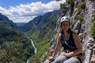 Rock climbing in the Verdon gorge