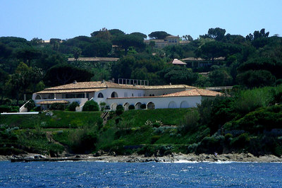 One of many magnificent homes near St Tropez