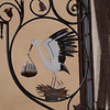 symbols of Alsace - the stork and kuglehopf