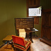 Château d'Azayle Rideau. The private study/library and writing desk. ...it almost looks like a large laptop!