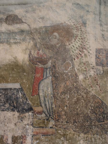 Fresco en el interior de la Abadia de Conques