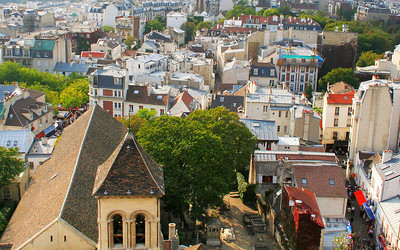 Great view, looking out to distant Paris