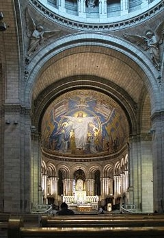 We weren't permitted to take photos inside the church.  I found this photo on the net to remind me of what I saw inside the magnificient church. The interior contains one of the worlds largest mosaics, and depicts Christ with outstretched arms.