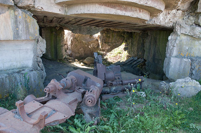 Longues-sur-Mer Battery. Remains of German gun emplacements overlooking the Normandy Beaches