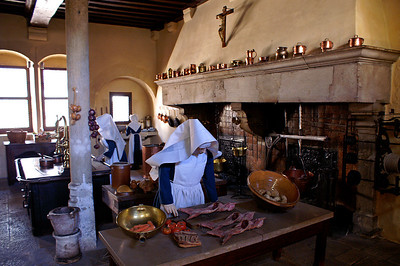 Hôtel Dieu in Beaune - nicely reconstructed kitchen