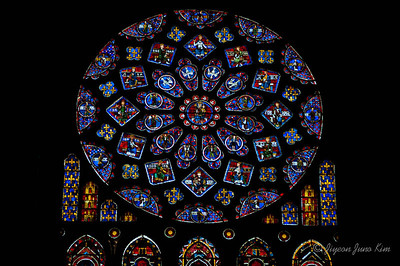 Stained Glass at Chartre Cathedral