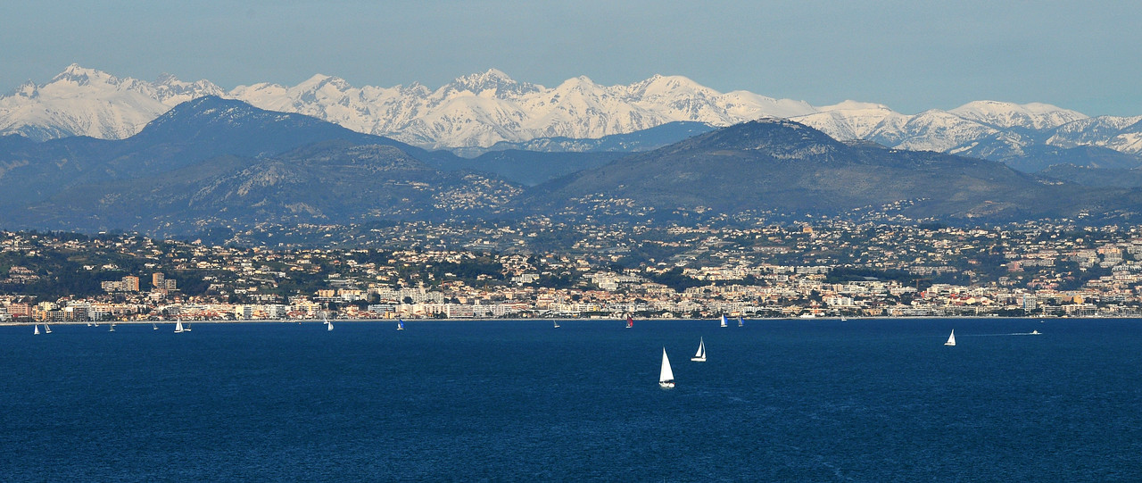 View towards Nice