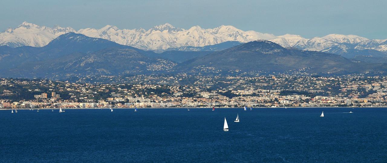 View towards Nice