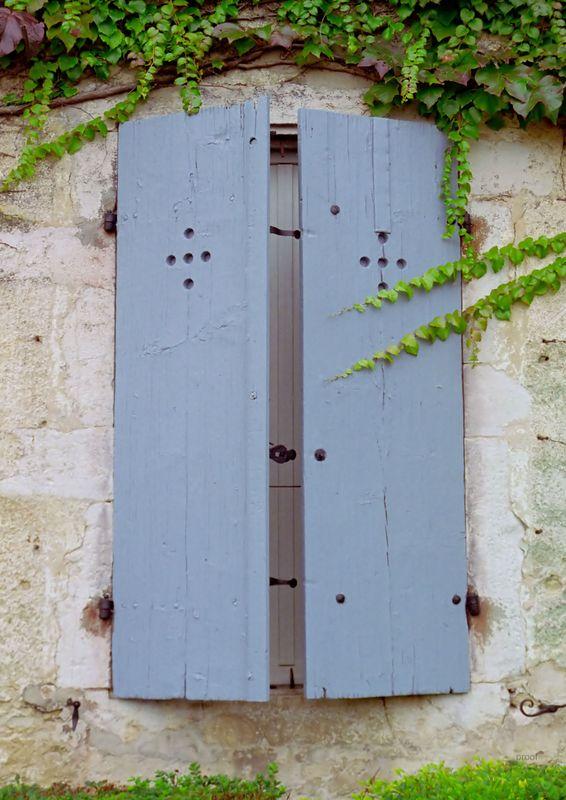 Blue Shutters in Beaune