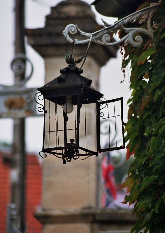 Streetlamp in Champagne, France