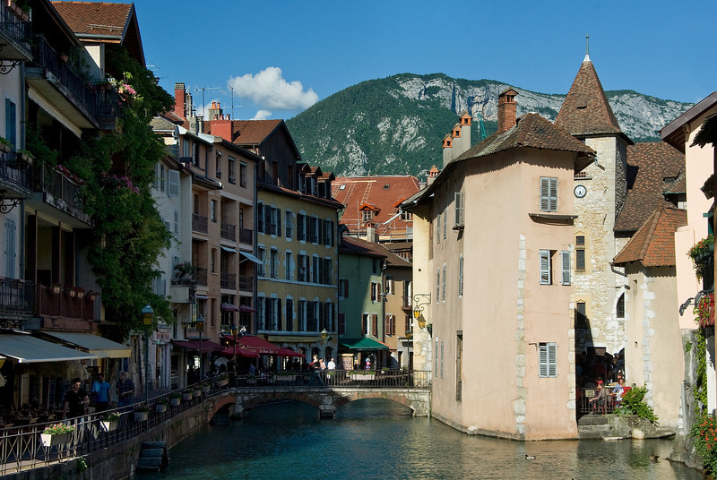 Charming medieval Annecy, capital of Haute Savoie, south France.