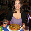 "Julie had a ""tajine de poulet au citron""; déjà preparé roast chicken stew in a clay pot surrounded w legumes, onions & zucchini basted with lemon. Very good! And no dairy."