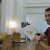 """Andrew learns about the area's wineries, while sampling a 2010 Margaux (chateau mille roses) €6. Very full bodied. Very good.<br /> <a href=""""http://baravin.bordeaux.com/"""">http://baravin.bordeaux.com/</a>"""
