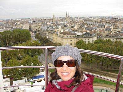 Julie stated that we must ride the ferris wheel. Which afforded wonderful views of the city.