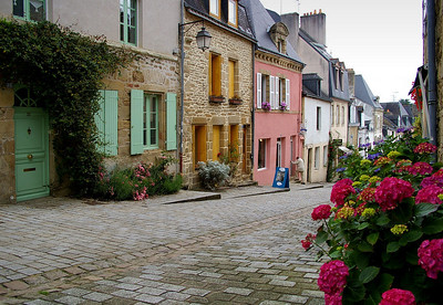 Auray - the main street from St-Goustan to the town centre