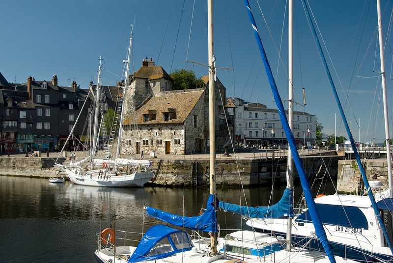 The Lieutenance building, in the 'vieux bassin' (old basin), Honfleur