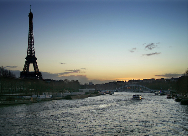Winter Evening from Pont de l'Alma