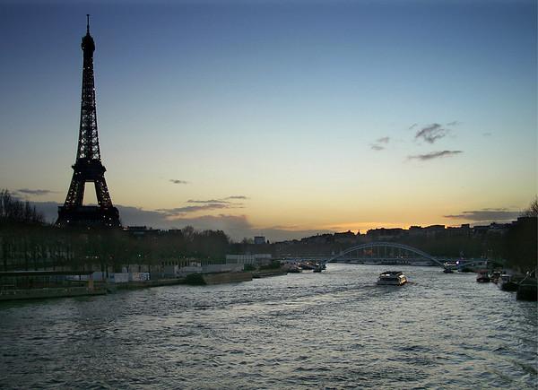 Winter Evening from Pont de l'Alma