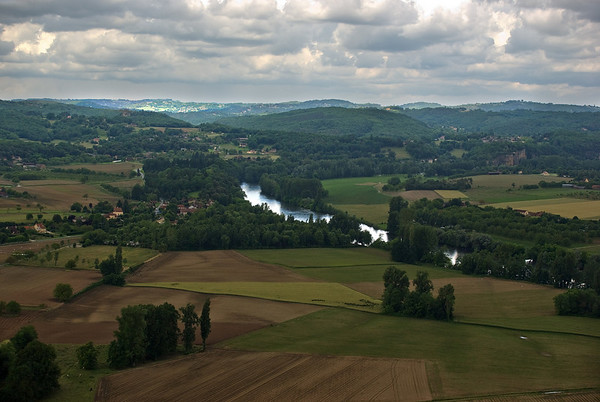 Looking out over the Dordogne River at Domme
