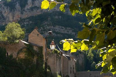 Villages such as this one are scattered along the river gorges
