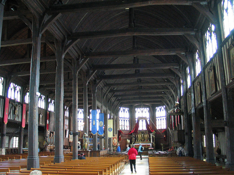 Saint Catherine's church, the largest wooden church in France, built around 1500