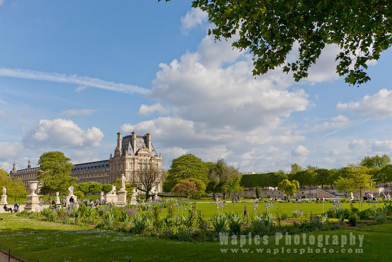 View of Musée du Louvre from the Garden