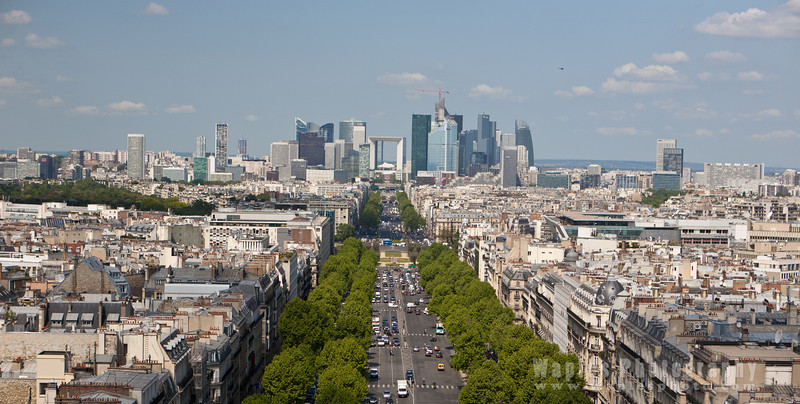 Avenue de la Grande Armee, with La Defense in the distance