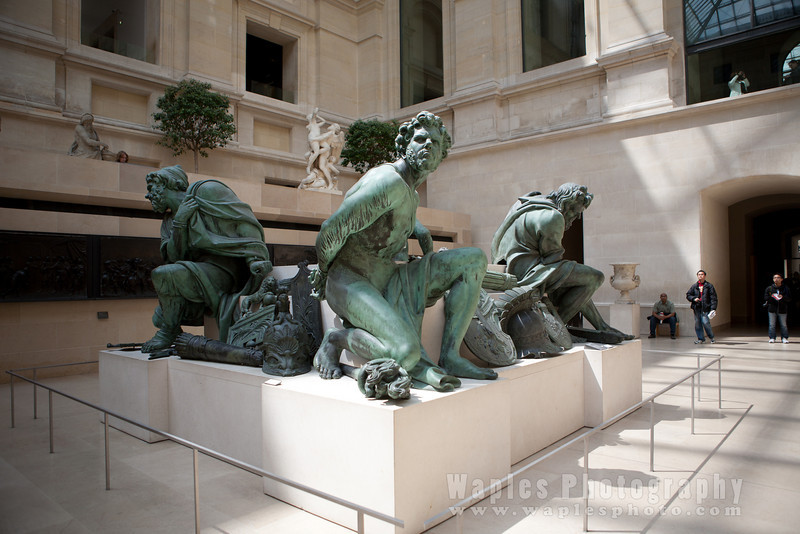 Bronze Statue in Pavillion in Louvre