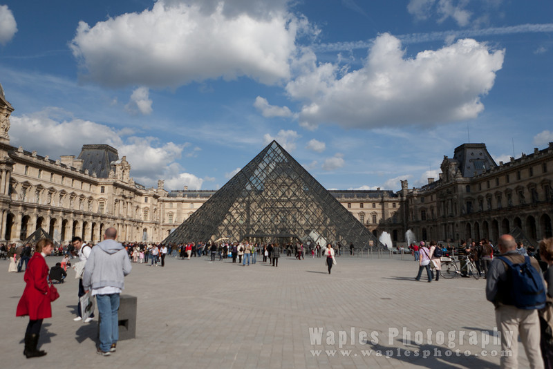 The Glass Pyramid and Entrance to the Louvre