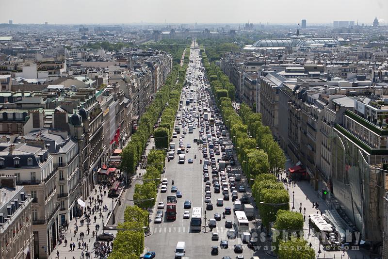 Ariel View of Avenue des Champs-Élysées