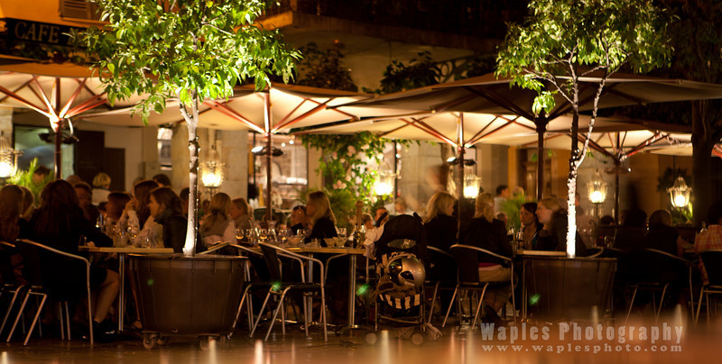 Dining at night in Biot