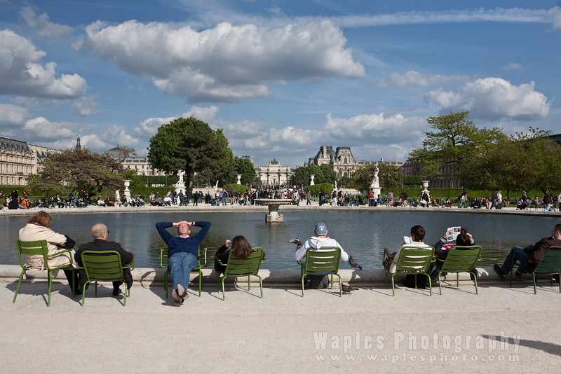 Enjoying the sun, Jardin des Tuileries