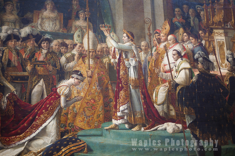 Emperor Napoleon crowning himself, Jacques Louis David