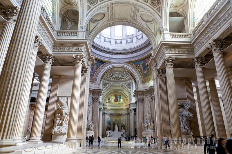 Inside the Panthéon