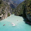 The Verdon River exiting canyon
