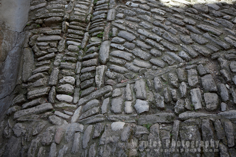 Stone paved street
