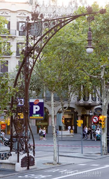 Lamp Post Designed by Antoni Gaudi