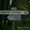 Signpost for Chateau L'eveque